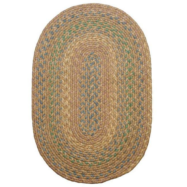 Brookline Taupe Indoor/ Outdoor Braided Rug (5' x 8')