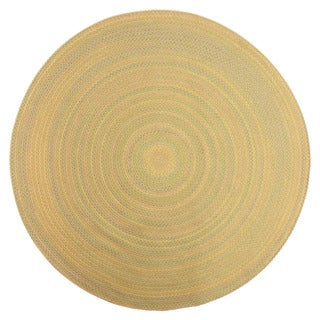 Smithfield Taupe Indoor/ Outdoor Braided Rug (8' Round)