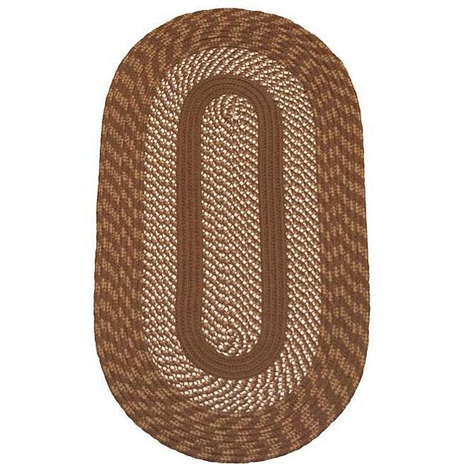 Cambridge Brown Indoor / Outdoor Braided Rug (8' x 10')