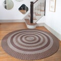 Middletown Brown Braided Rug (8' Round)