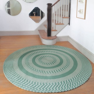 Middletown Sage Indoor/ Outdoor Braided Rug (8' Round)