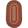 Middletown Barn Red/ Olive Braided Rug (5' x 8' Oval)