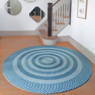 Middletown Slate Round Braided Rug (8' Round)