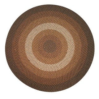 Pinehurst Black/ Chocolate Braided Wool Rug (6' Round)