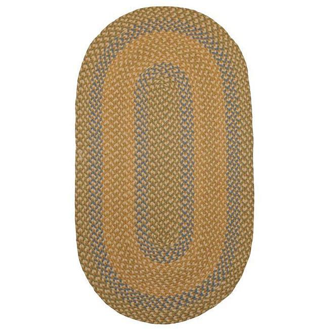 Pinehurst Braided Natural-color Wool Rug (7'4 x 9'4)