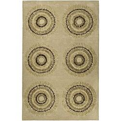 Safavieh Handmade Deco Explosions Beige/ Multi N. Z. Wool Rug (7'6 x 9'6)