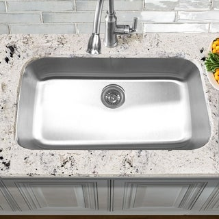 Elongated 16 Gauge Stainless Steel Single Bowl Kitchen Sink