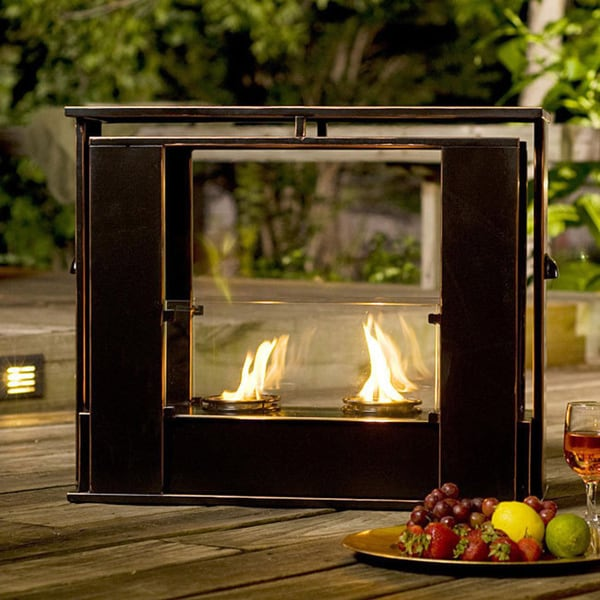 upton home wesley indoor outdoor portable fireplace