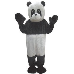 Adult Panda Mascot Costume Set