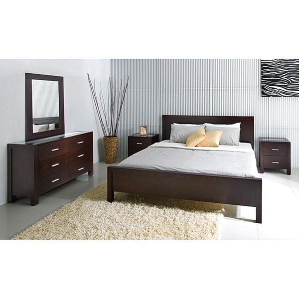 ABBYSON LIVING Hamptons 5 Piece Cal King Size Platform Bedroom Set