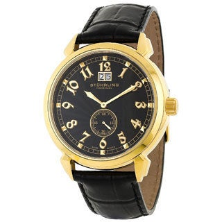 Stuhrling Original Men's Eternal Sunrise II Black Dial Watch