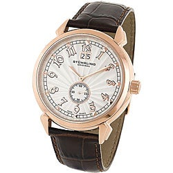 Stuhrling Original Men's Eternal Sunrise II Brown Strap Watch