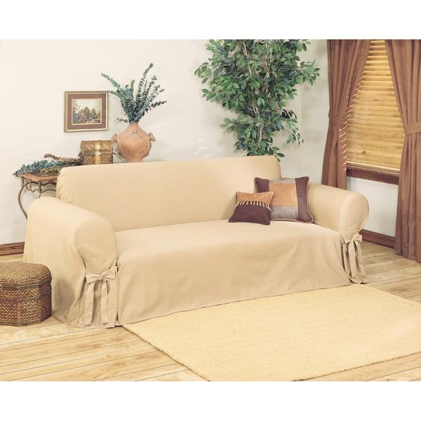 Classic Slipcovers Ribbed Sofa Slipcover
