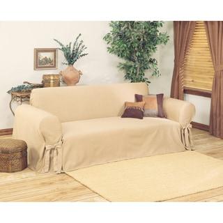 Ribbed Sofa Slipcover