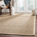 Safavieh Hand-woven Sisal Natural/ Beige Seagrass Rug (6' x 9')