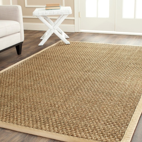 hand woven sisal natural beige seagrass rug 8 x 10 carpet living area office ebay. Black Bedroom Furniture Sets. Home Design Ideas
