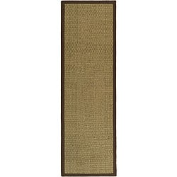 Safavieh Hand-woven Sisal Natural/ Brown Seagrass Runner (2'6 x 12')