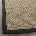 Casual Handwoven Sisal Natural/Black Seagrass Runner (2'6