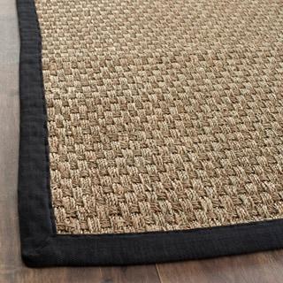 Safavieh Handwoven Sisal Natural/Black Seagrass Area Rug (6' x 9')
