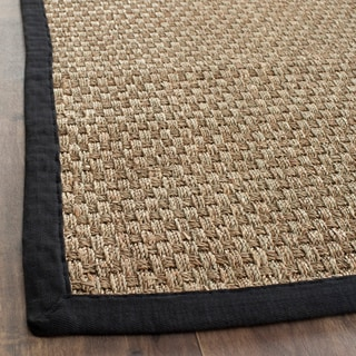 Casual Handwoven Sisal Natural/Black Seagrass Rug (8' x 10')