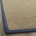 Hand-Woven Cotton Sisal Natural/ Blue Seagrass Runner (2'6 x 8')