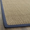 Hand-woven Sisal Natural/ Blue Seagrass Rug (9' x 12')