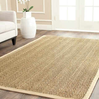 Hand-woven Sisal Natural/ Beige Seagrass Runner (2'6 x 12')