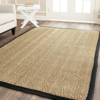 Safavieh Hand-woven Sisal Natural/ Black Seagrass Rug (3' x 5')