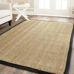 Safavieh Hand-woven Sisal Natural/ Black Seagrass Rug (6' x 9')
