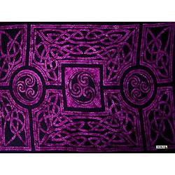 Royal Purple Celtic Circles Sarong (Indonesia)