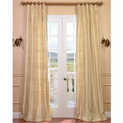 Signature Beige Textured Silk 120-inch Curtain Panel