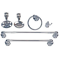 Moen Decorator 6 Piece Chrome Bath Accessory Kit