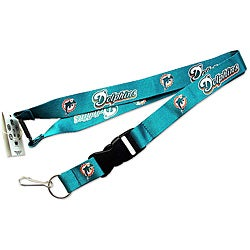 Miami Dolphins Clip Lanyard Keychain