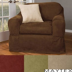 Maytex Piped Suede 2-piece Patented Chair Slipcover