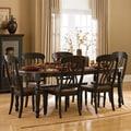 TRIBECCA HOME Mackenzie 7-piece Country Black Dining Set