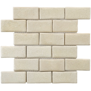 SomerTile 12x12-in London Subway Ceramic Mosaic Tile (Pack of 5)