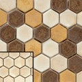 SomerTile 12x10.75-in London Hexagon Ceramic Mosaic Tile (Pack of 5)