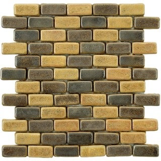SomerTile 12x12-in London Brick 1x2-in Cimmaron Ceramic Mosaic Tile (Pack of 5)