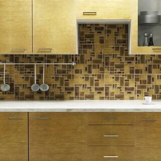 SomerTile 12x12-in Handmade London Boulevard Mosaic Tile (Pack of 5)