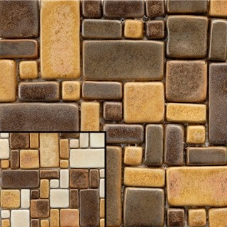 SomerTile 12x12-in Handmade London Boulevard Mosaic Tile (Pack of 5)