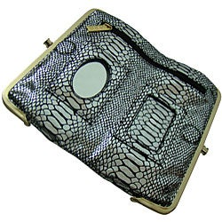 Amerileather Gloria Python Print Clutch