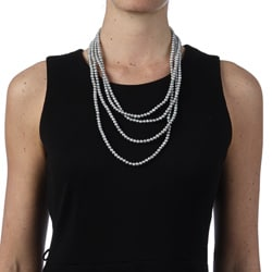 DaVonna Grey FW Pearl 100-inch Endless Necklace (5-6 mm)