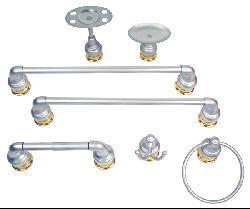 Moen Platinum/ Polished Brass 7-piece Bath Accessory Set