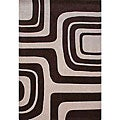 nuLOOM Hand-tufted Pino Collection Maize Brown Rug (7'6 x 9'6)