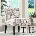 Comfortable Chocolate Swirl Print Lounge Chair