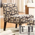 TRIBECCA HOME Decor Cube Print Accent Lounge Chair