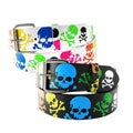 Men's Colored Skulls Faux Leather Belt