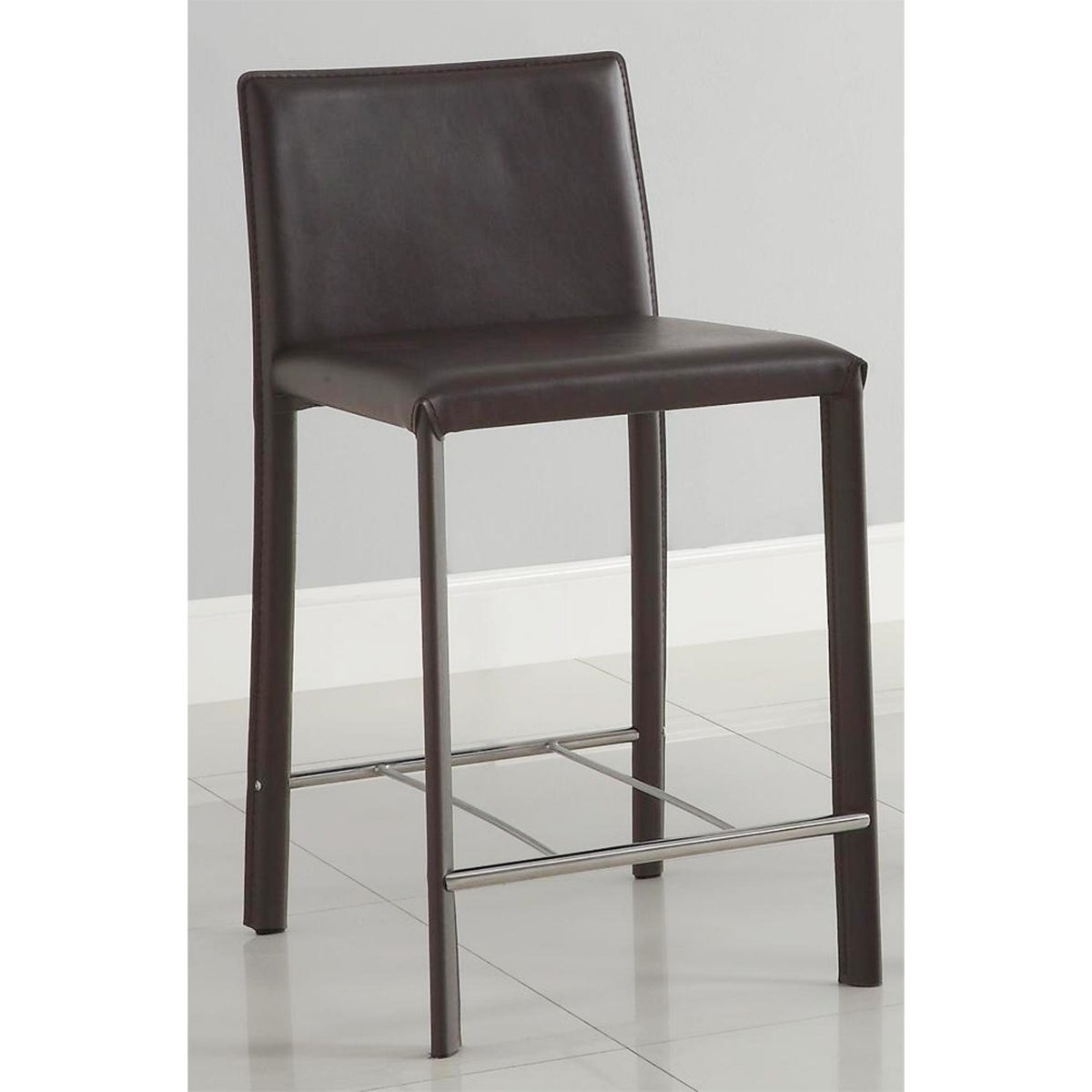 Euro Design Brown Bicast Leather Counter Stool Set 2 Acrylic Counter Stools, The Versatile Seating Option