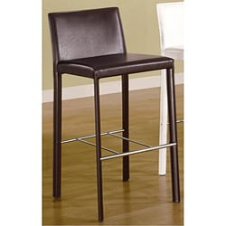 Euro Design Brown Bicast Leather Barstools (Set of 2)
