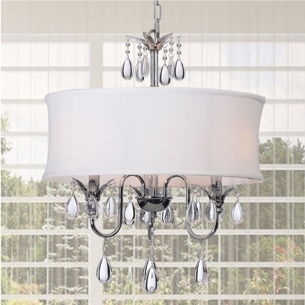 Crystal Chrome 3-light Chandelier